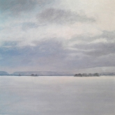 Manastash in Winter, oil on panel, 12 x 12 inches [$400]