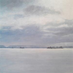 Manastash in Winter, 2014, oil on panel, 12 x 12 in. [$400]