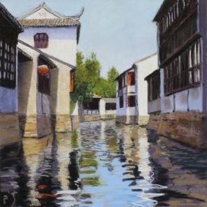 Jinxi Canal II, 2015, pastel, 13 x 13 in. [$400] (WP)