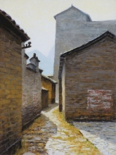Jiu'xian Street, pastel on prepared paper, 15 x 11.25 inches [sold]