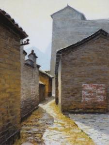 Jiu'xian Street, 2015, pastel, 15 x 11.25 in. [$400] (WP)