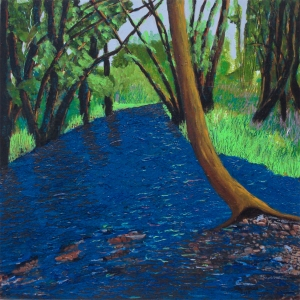 Rock Creek, 2015, acrylic on panel, 16 x 16 in.  [$500]