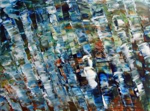 Shimmering Pool, 2015, acrylic on Yupo, 7 x 10 in. [$200]