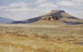 Table Rock (Lake County, Oregon), pastel on prepared paper, 7.5 x 11.75 inches [$350]