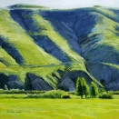Across Eaton's Pasture I, pastel on prepared paper, 9.25 x 9.25 [$350]