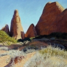 Devil's Garden, Arches National Park; pastel on prepared paper, 13.5 x 13.5 inches [sold]