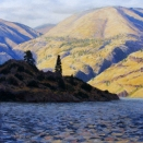 Field's Point (Lake Chelan), pastel on prepared paper, 14 x 14 inches [$450]