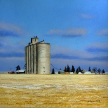 Kent Silo. Pastel on paper, 9.25 x 9.25 inches [$400]