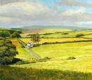 Lowlands Farm (Scotland), pastel on prepared paper, 16.25 x 18.5 inches [$550]