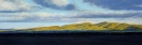 Manastash Sunset, pastel on prepared paper, 10 x 28.5 inches [sold]