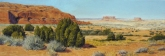 Navajo Rocks above Moab. Pastel on paper, 10 x 28.5 inches [$850]