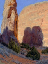 Near Pine Tree Arch (Arches National Park). Pastel on paper, 18.75 x 14 inches [$550]