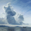 Panama Bay, pastel on prepared paper, 21 x 20.5 inches [$900]