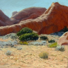 Red Rock, Arches National Park. Pastel on paper, 7.25 x 7.25 inches [$350]