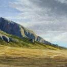 Snake Range near Osceola, Nevada; pastel on prepared paper, 10 x 28.5 inches [$850]
