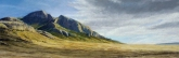 Snake Range near Osceola, Nevada. Pastel, 10 x 28.5 inches [$850]