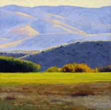 Early Autumn, pastel on prepared paper, 10.5 x 10.5 inches [sold]