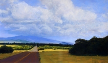 Farrington Road, Molokai; pastel on prepared paper, 7.5 x 11.75 inches [$400]