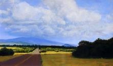 Farrington Road, Molokai; pastel on prepared paper, 7.5 x 11.75 inches [$400]