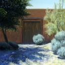 Georgia's Door, Abiquiu; pastel on prepared paper, 14 x 14 inches [sold]