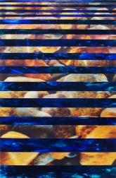 Language of Stone, acrylic on Yupo with lenticular image, 19 x 12 inches [$750]