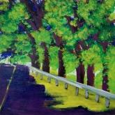 Maui Drive, acrylic on panel, 12 x 12 inches [$400]