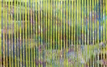 Mountain Jazz, acrylic on Yupo with lenticular image, 12 x 19.5 inches [$600]