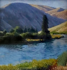Near Big Pines, pastel on prepared paper, 7.25 x 7.25 inches [sold]