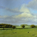 Near Carlisle (Scotland), pastel on prepared paper, 7.25 x 7.25 inches [sold]