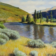 Near Umtanum Creek, pastel on prepared paper, 14 x 14 inches [sold]