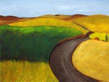 Palouse Farmstead, acrylic on canvas, 30 x 40 inches [$750]