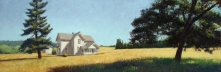 Otto Parson House, Gales Creek, Oregon; pastel on prepared paper, 9.75 x 28.75 inches [sold]