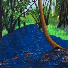 Rock Creek, acrylic on panel, 16 x 16 inches [$500]