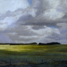 Salisbury Plain, pastel on prepared paper, 13 x 13 inches [sold]