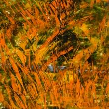 Autumn at Swauk Creek, acrylic on Yupo, 12 x 12 inches [$300]